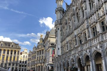 An exterior view of the intricately designed Grand Place.