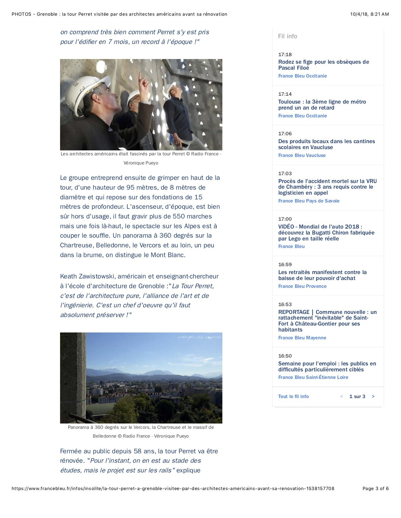 Article by Véronique Pueyo. This is page 3 of 6.