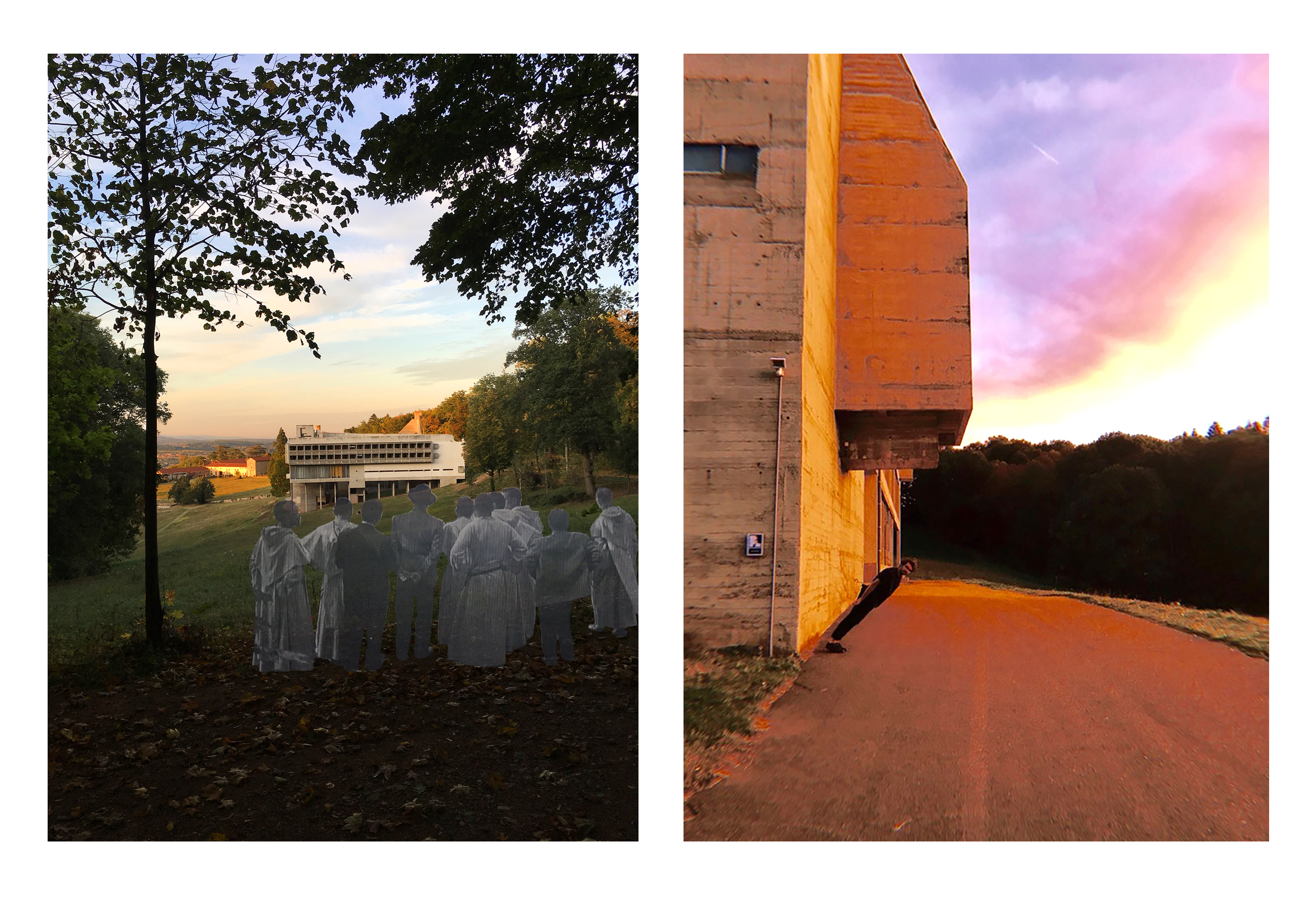 Two pictures manipulated by students. They exaggerate their inspirations in each photo.